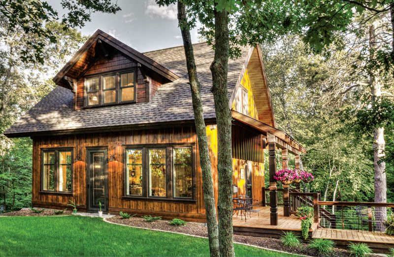 A Dream Cabin 25 Years In The Making Cabin Cottage Style Lake House