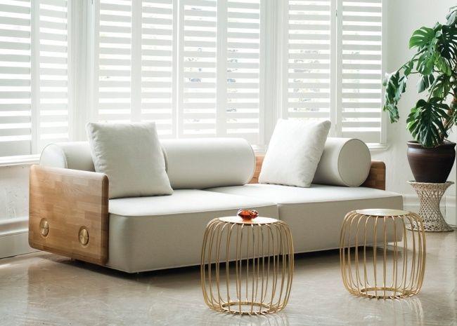 designer couch holz weisse kissen de la espada DECO Autoban | Neues ...