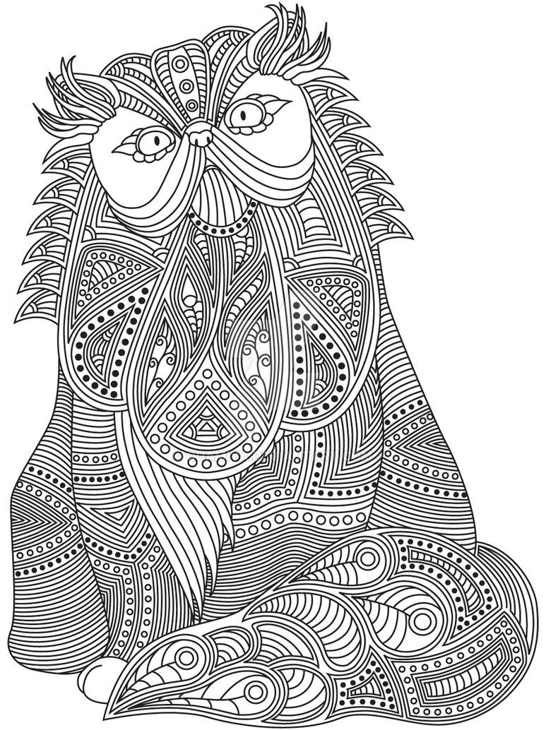 Gst Kolorowanka Koty I Psy 09 Podgd Por Quamiya Coloring Book Art Adult Coloring Pages Coloring Book Pages