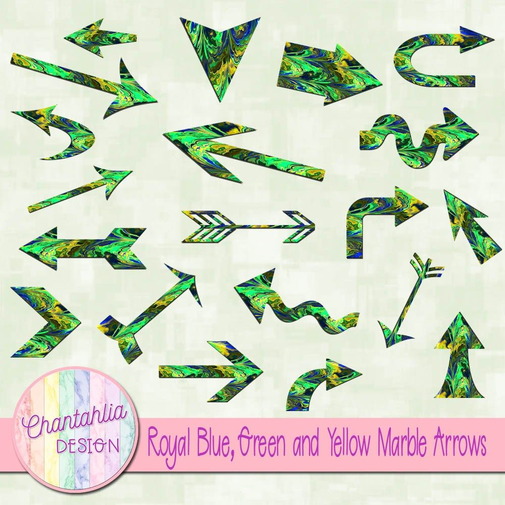 Free arrow clip art in a marbled design. Instant download ...
