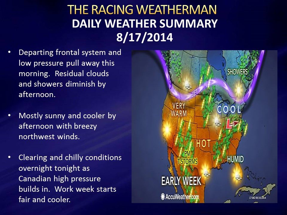 Sunday Weather Forecast update now available at http://racingwxman.weebly.com/