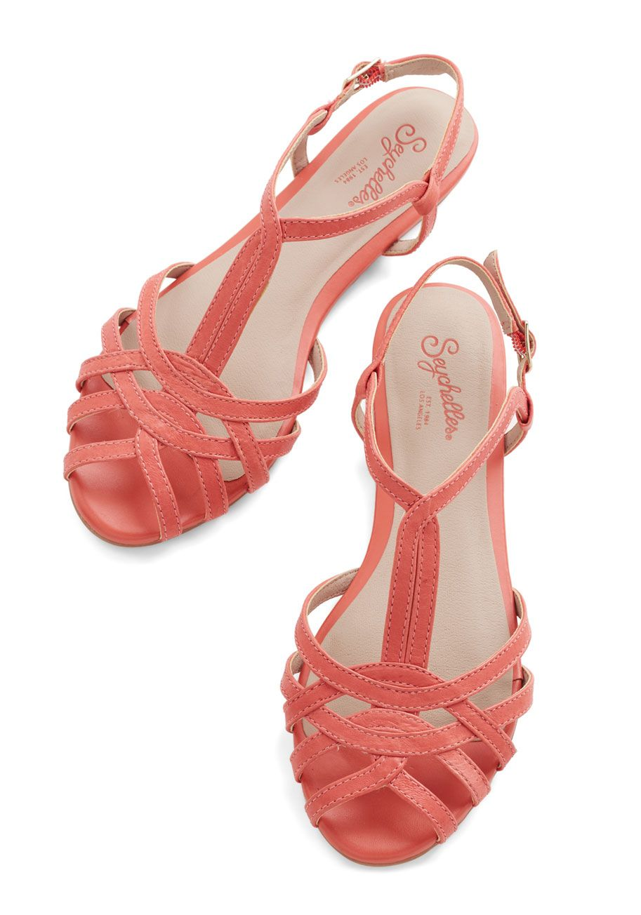 Salt Water Leather Sandal In Red To Buy In The Near