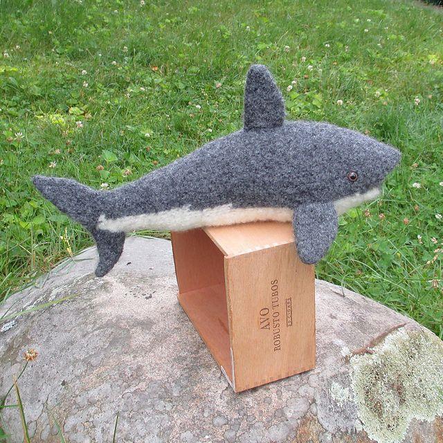 Knitting Patterns Galore - Bruce The Great White Shark ...