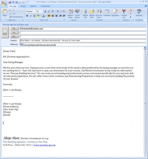 Sending Email With Resume Best Formats For Sending Job Search Emails