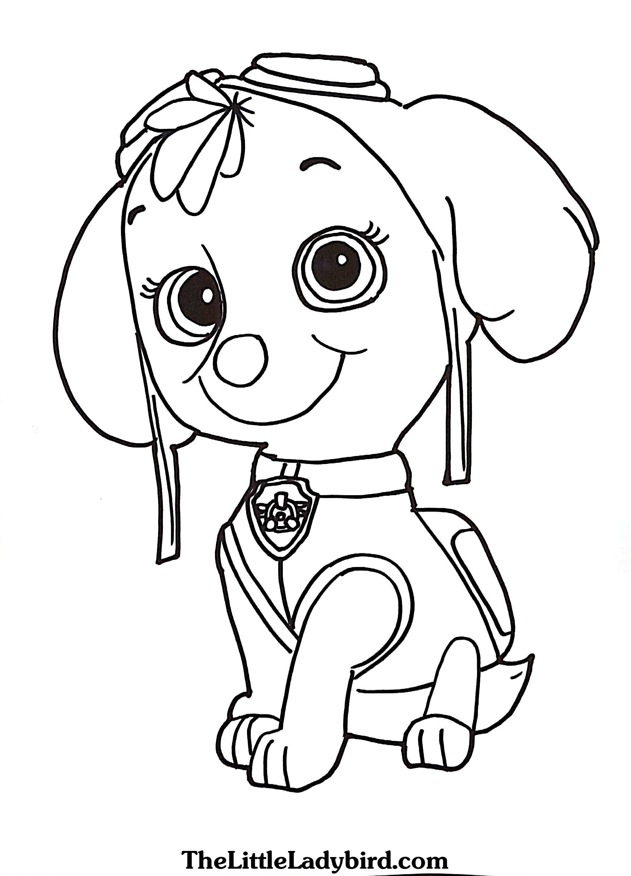 Free Skye From Paw Patrol Coloring Page Com And Pages Paw Patrol