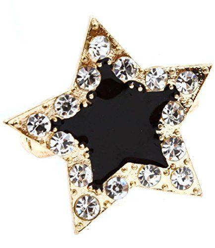 Crystal Star Ring BA Clear Black Gold Tone Stretch Recyclebabe http://www.amazon.com/dp/B00OBUSHO6/ref=cm_sw_r_pi_dp_SZVnub0DF7PJ6