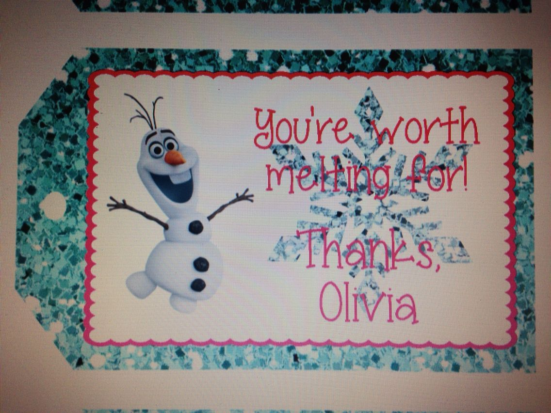 Olaf gift tags