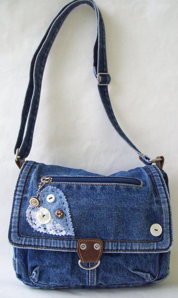 Denim Purse Denim Bag - Vintage - Recycled | Bolsos, Jeans y Costura