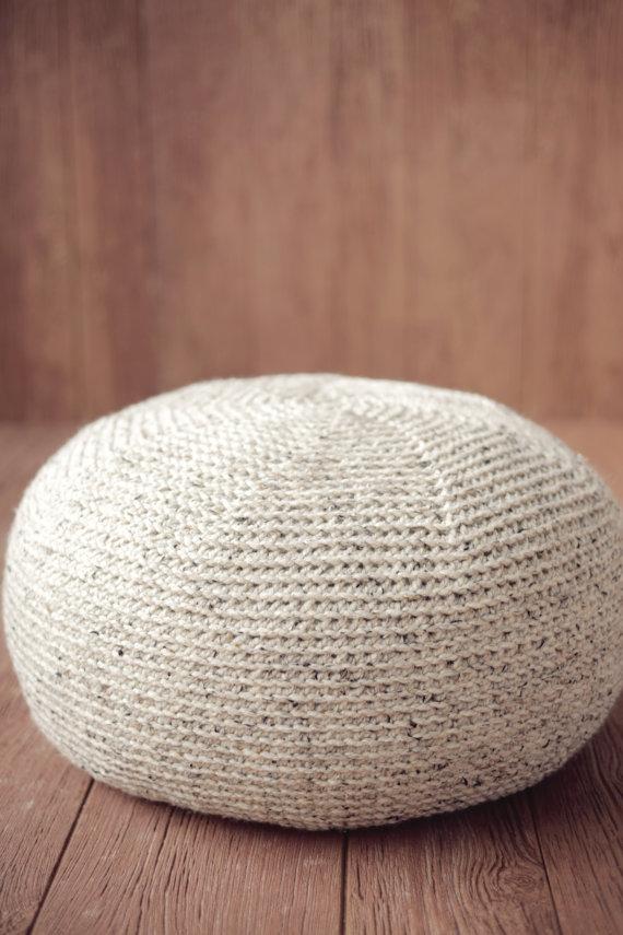 Pouf CROCHET PATTERN Crochet Pillow Ottoman Cushion Large KNIT ...