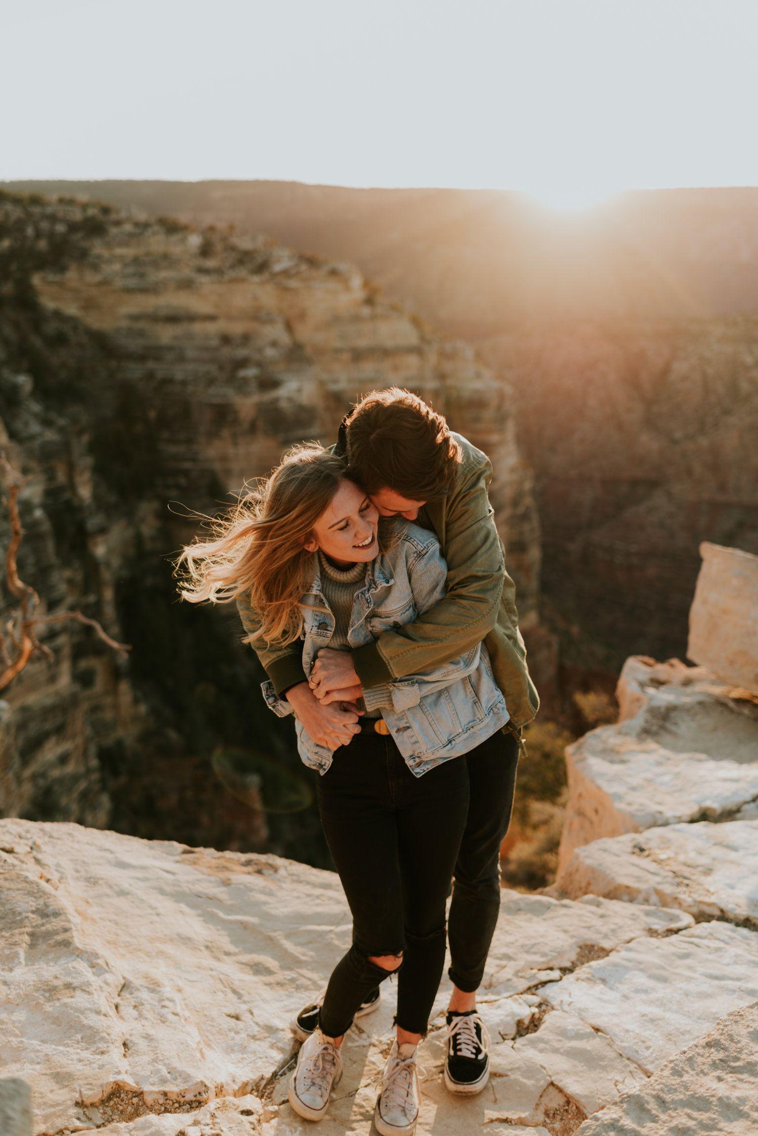 Grand Canyon Couples Shoot Arizona Adventure Session Couple