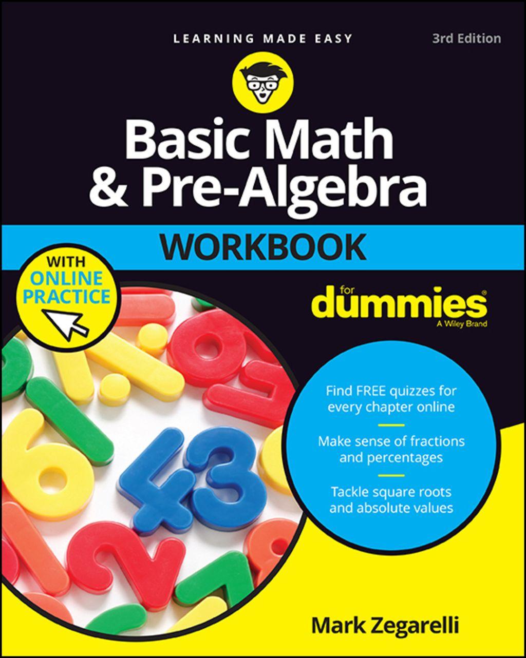 Basic Math And Pre Algebra Workbook For Dummies Ebook In