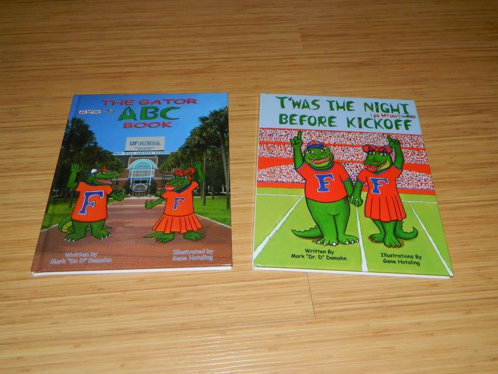 Perfect for any little Gator Fan!! Don't miss these, they're sure to sell quickly!! The Gator ABC Book+T'was the Night Before Kickoff UF Football Childrens Book Florida #Gators #UF #UniversityOfFlorida #Florida #GoGators