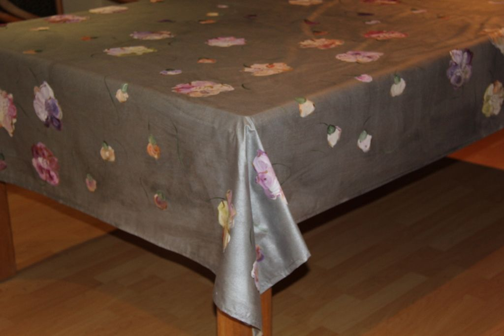 Hand Painted by Dana DMG Designs. Easy to clean table cloths. www.dmgdesigns.co.za or fadje@mweb.co.za