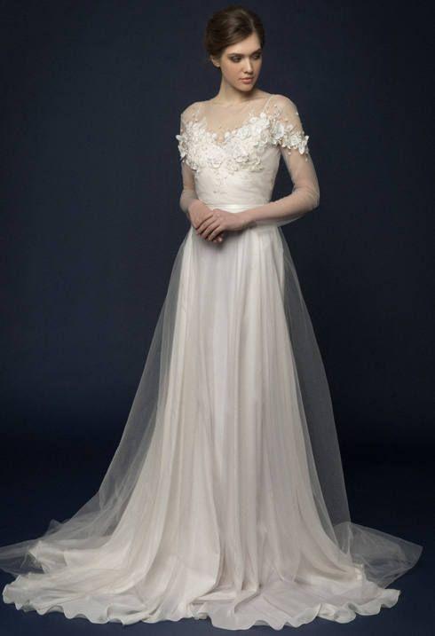 Lumika hand embroidered wedding dress embroidered for Floral embroidered wedding dress