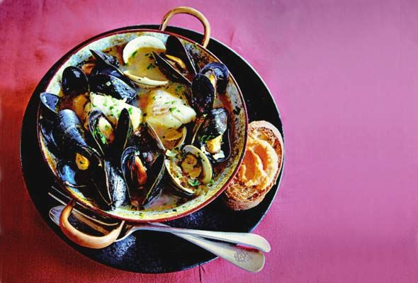 judith jones's bouillabaisse for one