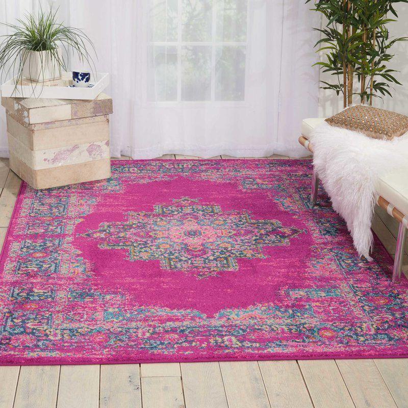 Dorset Oriental Fuchsia Indoor Area Rug | Oriental, Sunroom and ...