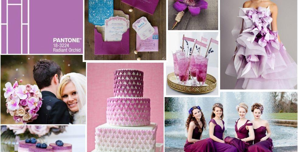 radiant orchid wedding table - Recherche Google