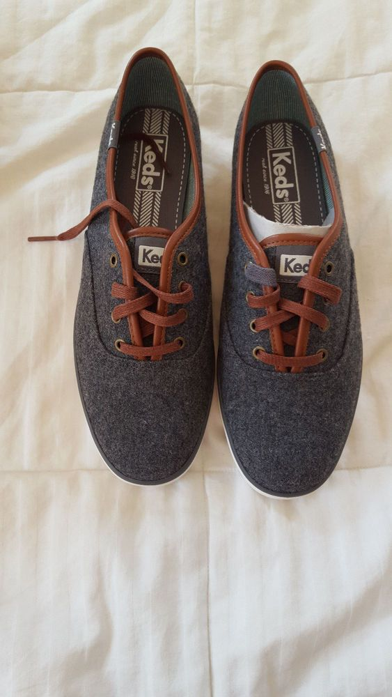 c12bfe49b53 Keds Champion Wool Charcoal Womens Fashion Sneaker Size 8M EXTRA STRINGS  NWT  Keds  CasualComfort  Casual