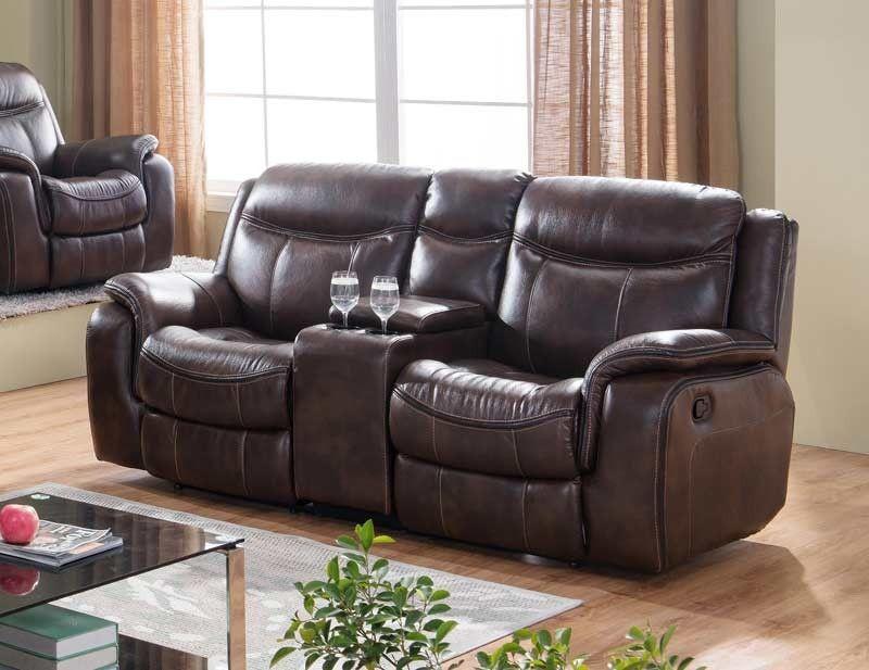 McFerran Home Furnishings - SF3739 Loveseat in Brown - SF3739-L