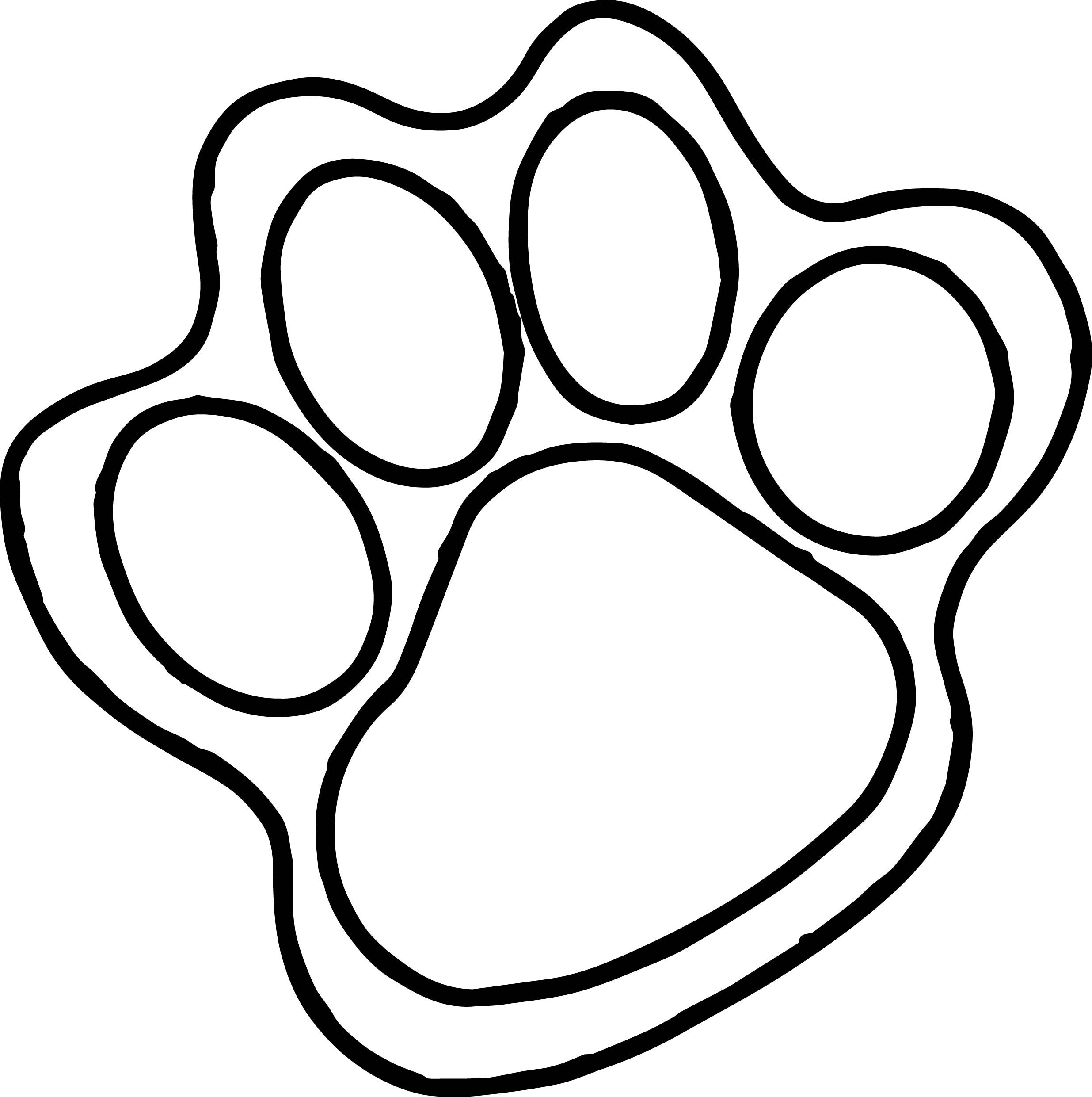 Tiger Paw Coloring Page  PeepsBurgh