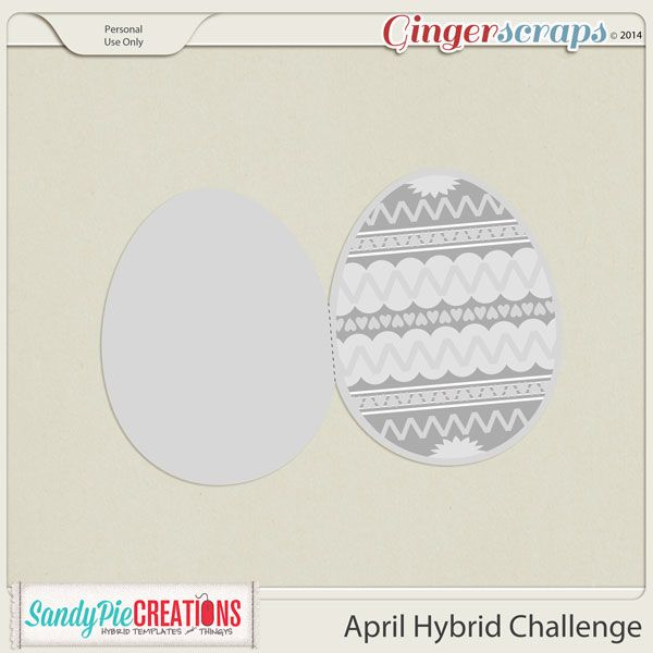 April Hybrid Challenge Easter Greeting Card Template   Digi