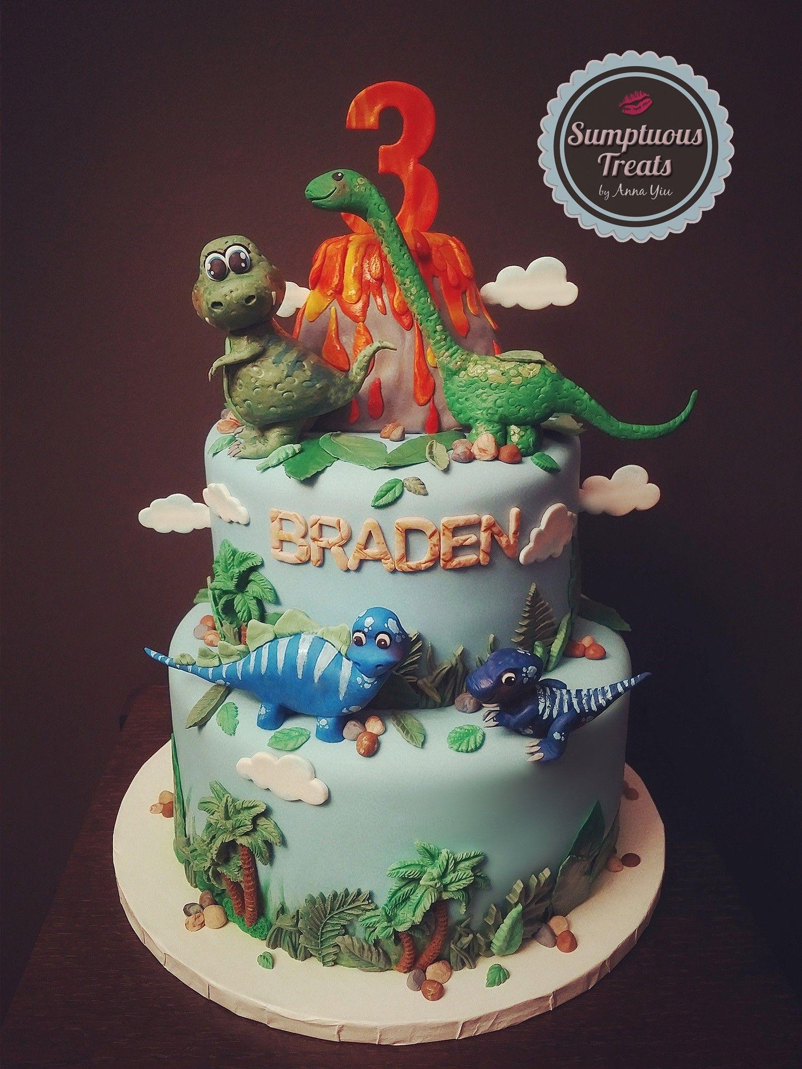 Dinosaur Theme Birthday Cake Custom Made To Order Cakes Cupcakes