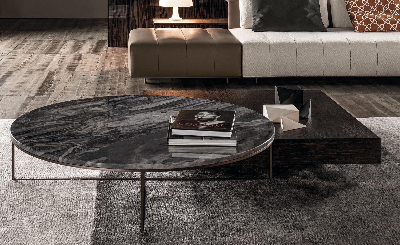 Metal Concrete 55 Round Coffee Table [ 1000 x 1000 Pixel ]