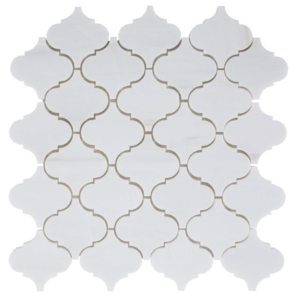 Floor And Decor Arabesque Tile Dolomite Arabesque Honed Marble Mosaic  Marble Mosaic Mosaics