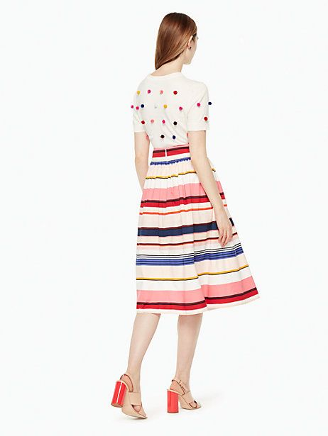 bcbe2fc18a69 berber stripe midi skirt | Kate Spade New York | Fashion | Skirts ...