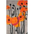 Soho Grey/Orange 8 ft. x 10 ft. Area Rug