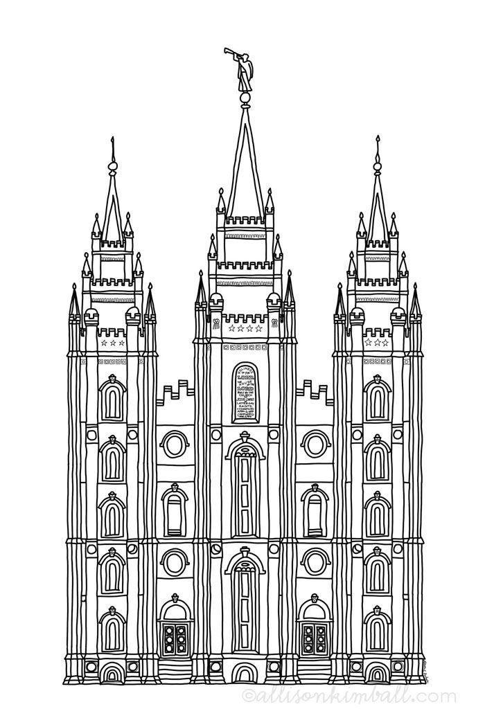 Salt Lake temple (friday freebie) Printable | Free LDS Printables ...