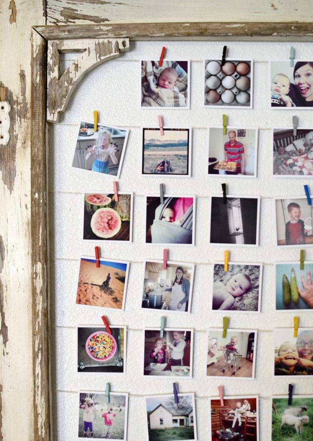 DIY Instagram Photo Display | Marcos para foto, Marcos y Decoración ...