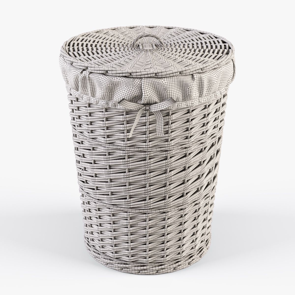 Wicker Laundry Basket 03 Natural Color Wicker Laundry Basket
