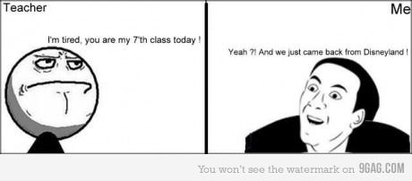 I hate it when teachers say this