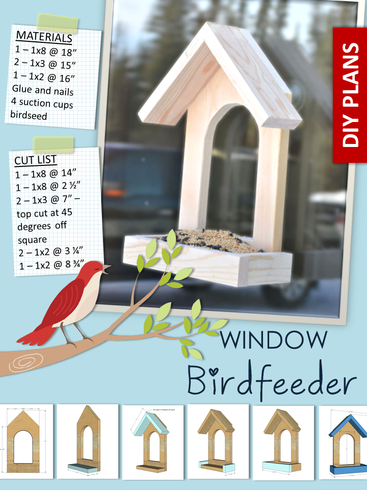 Ana blanc fen tre birdfeeder projets de bricolage maison mangeoire pour oiseaux - Cabane jardin atelier besancon ...