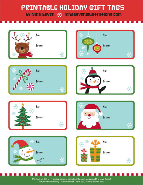 Free Printable Holiday Gift Tags Christmas