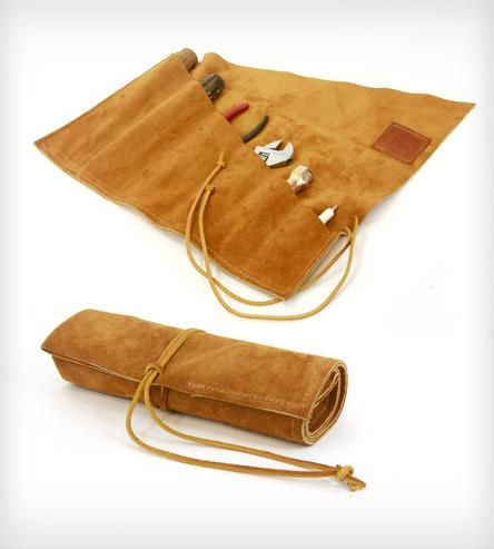 Suede Tool Roll by Red Clouds Collective on Scoutmob Shoppe
