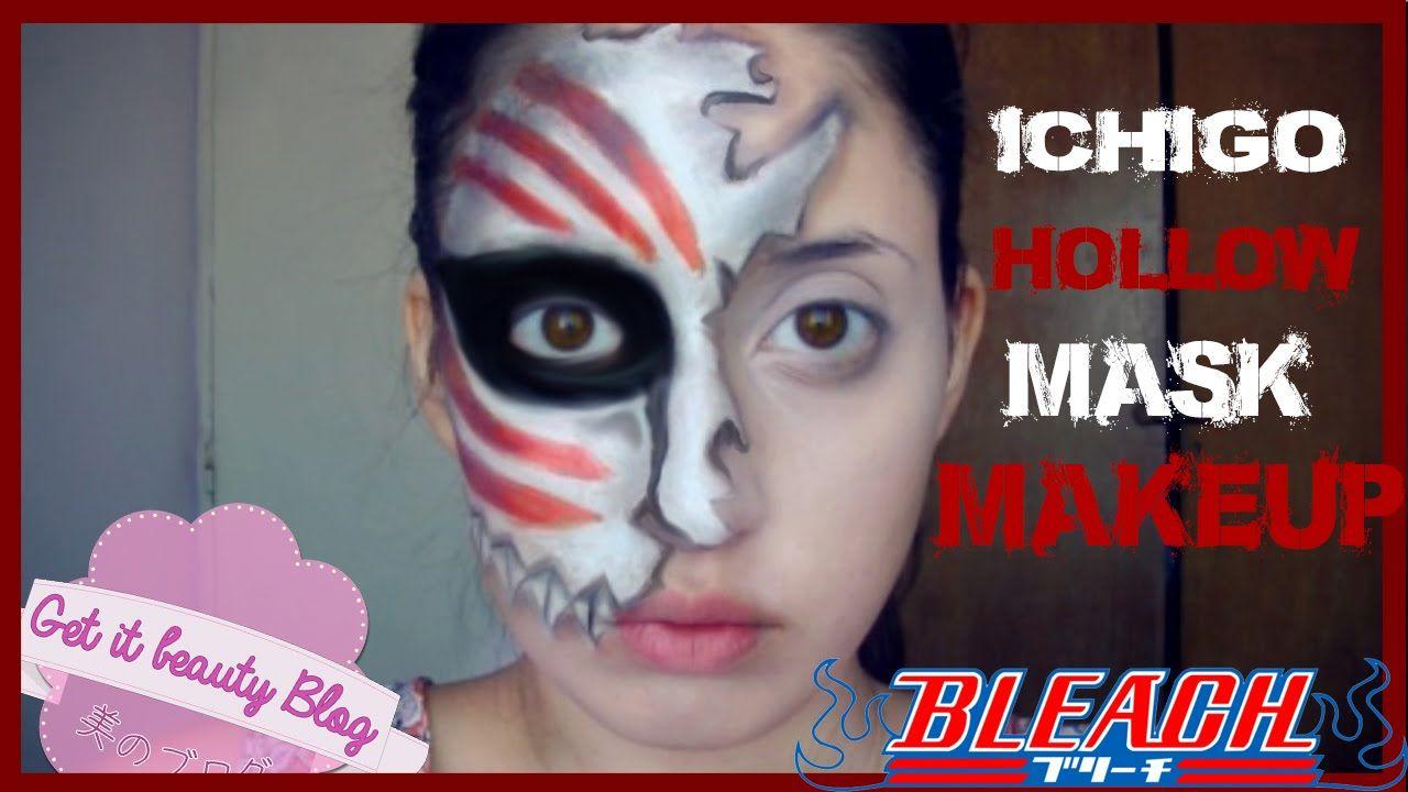 Bleach Ichigo Hollow Mask Makeup Mask Makeup Makeup Face Makeup
