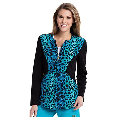 3cf05e77875 Careisma by Sofia Vergara Women's Angelina Animal Print Zip Up Scrub Jacket  | allheart.com