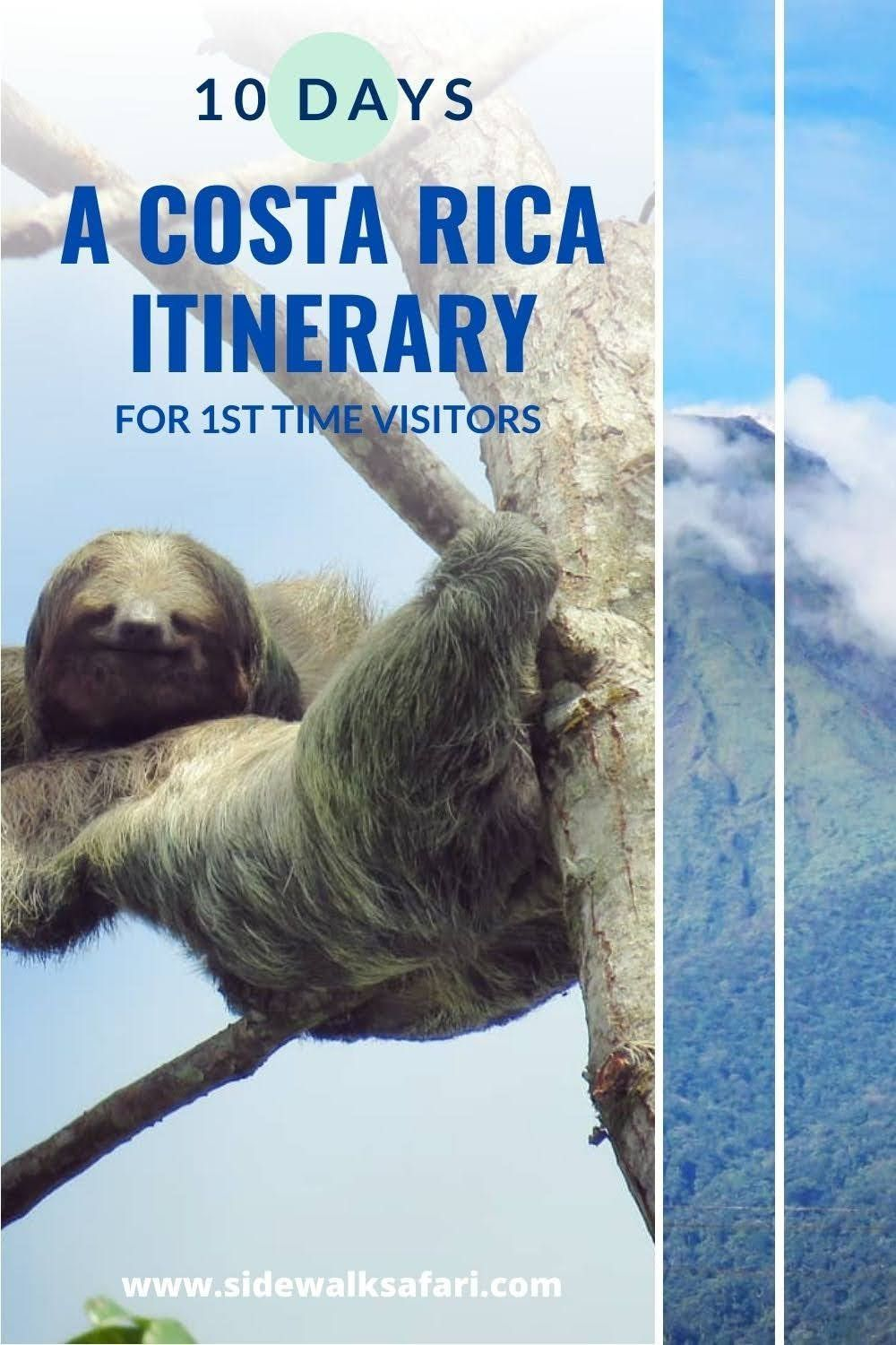 Looking to spend 10 days in Costa Rica? Travel Costa Rica with an itinerary for 1st time visitors. Explore a 10 day Costa Rica itinerary. Learn about things to do in La Fortuna, things to do in Monteverde Cloud Forest, and things to do in Manuel Antonio. Get Costa Rica travel tips on how to get around the country without renting a car.