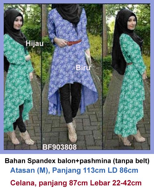 Baju Setelan Hijab Celana Model Terbaru