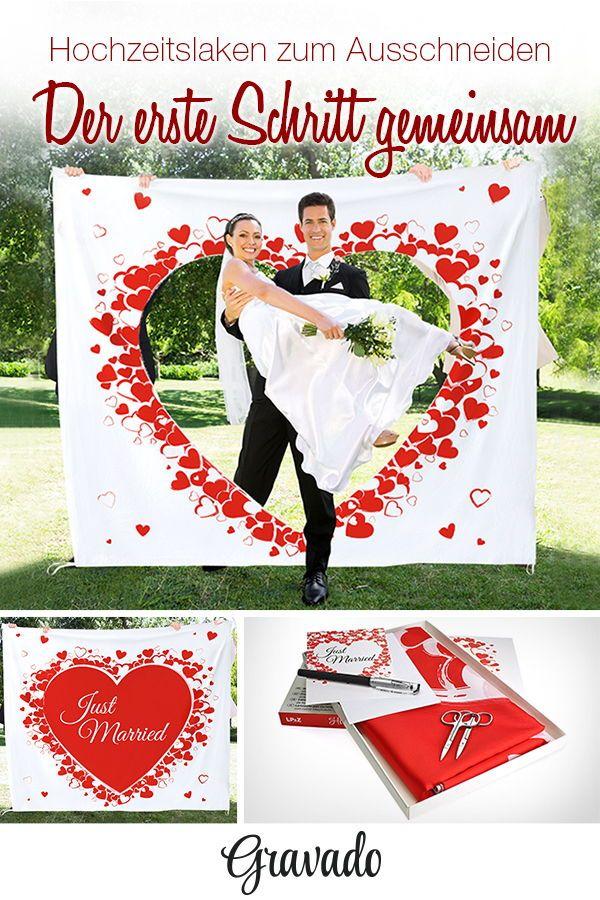 Hochzeitslaken Mit Romantischem Motiv Hochzeit Brauche Hochzeit