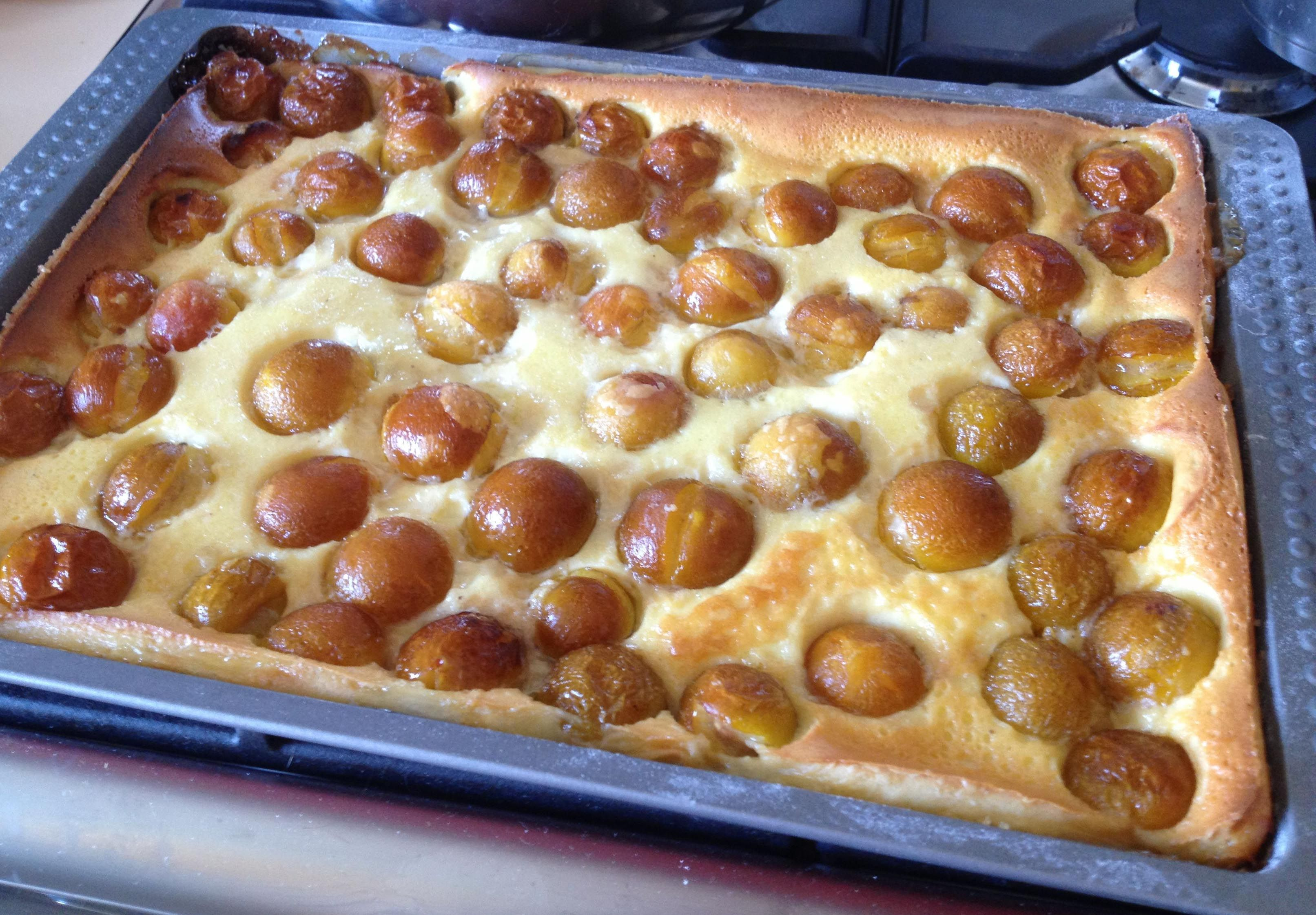 Clafoutis - from the Limousin region in France, which is known for 2 reasons: for being the name sake for big, long, black cars with darkened out windows and also for being the originator of the clafoutis, one of the most delicious desserts ever made in France!