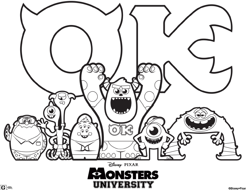 Do your little ones love to color? Here are Free Disney Monsters ...