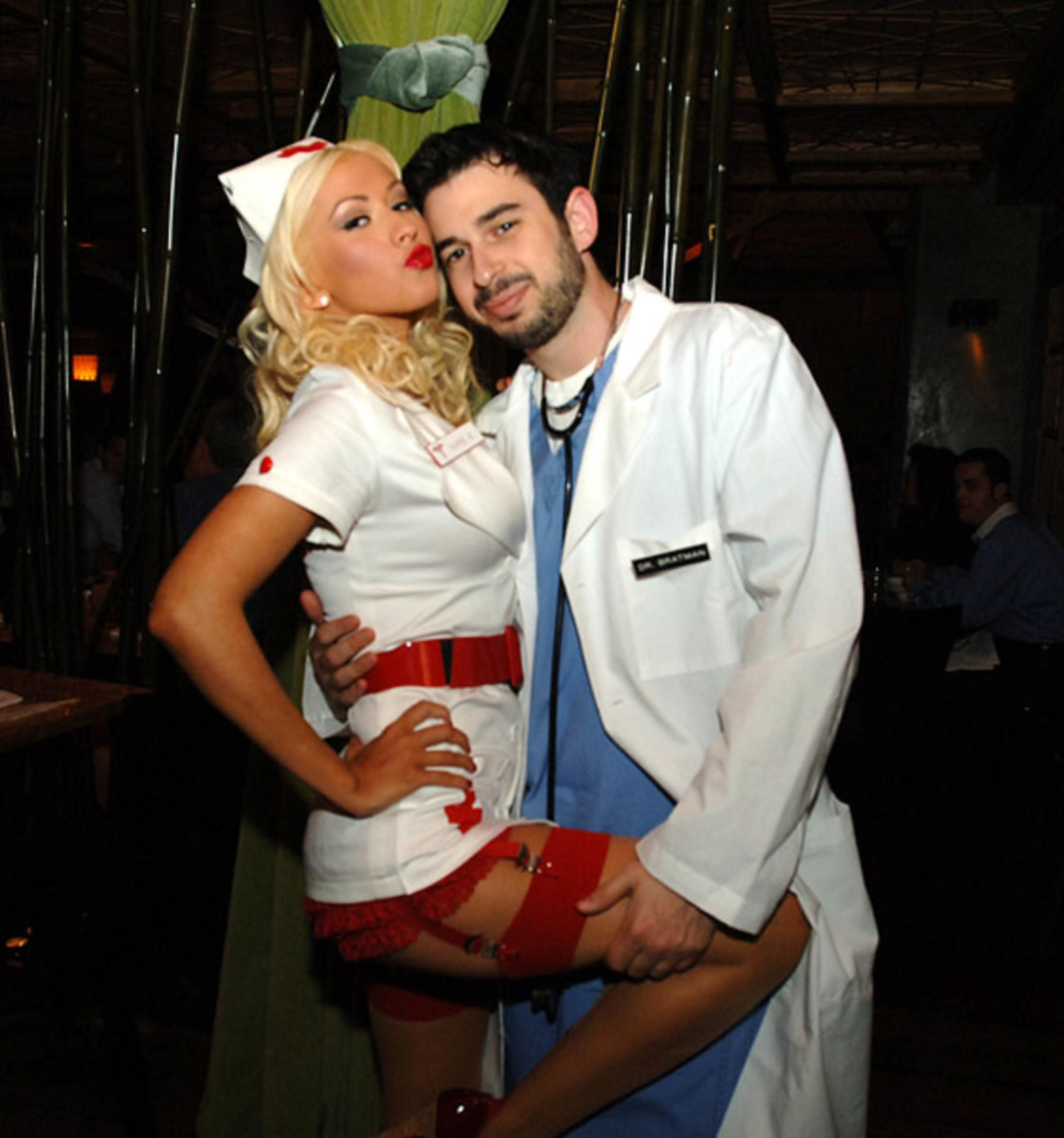 christina aguilera playing naughty nurse on halloween - Christina Aguilera Halloween