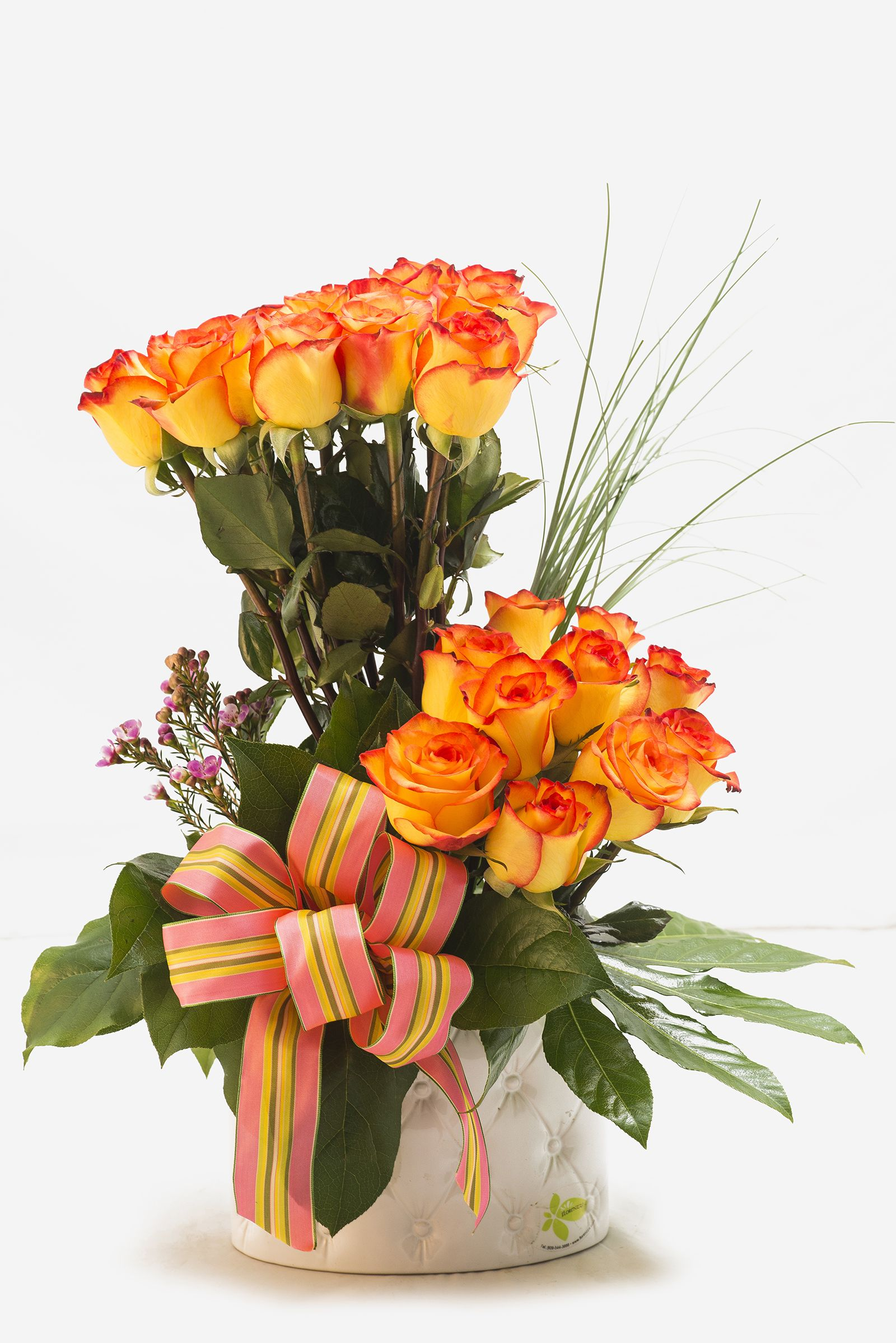 Rosas Amarillas Y Naranja Florenzza Santo Domingo Flores