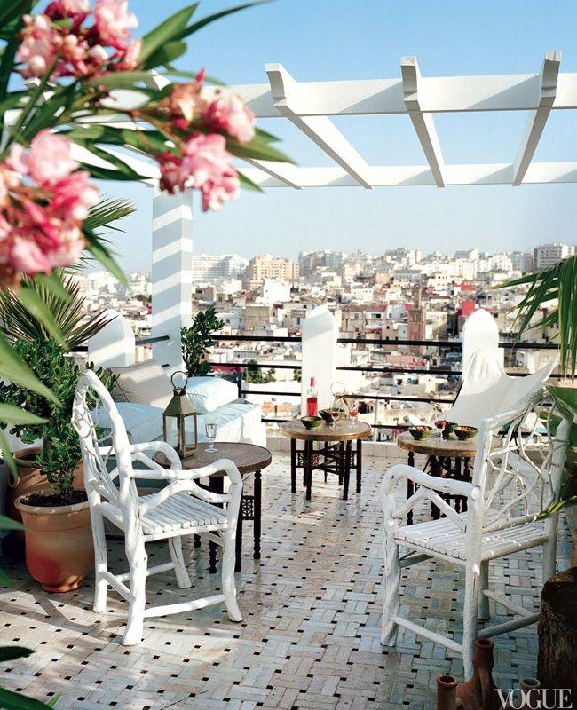 Roof Terrace Of Moroccan House Terraza De Casa Marroquí