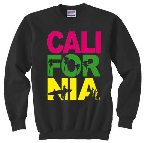 Crewneck Sweatshirt / California | Style | Sweatshirts ...