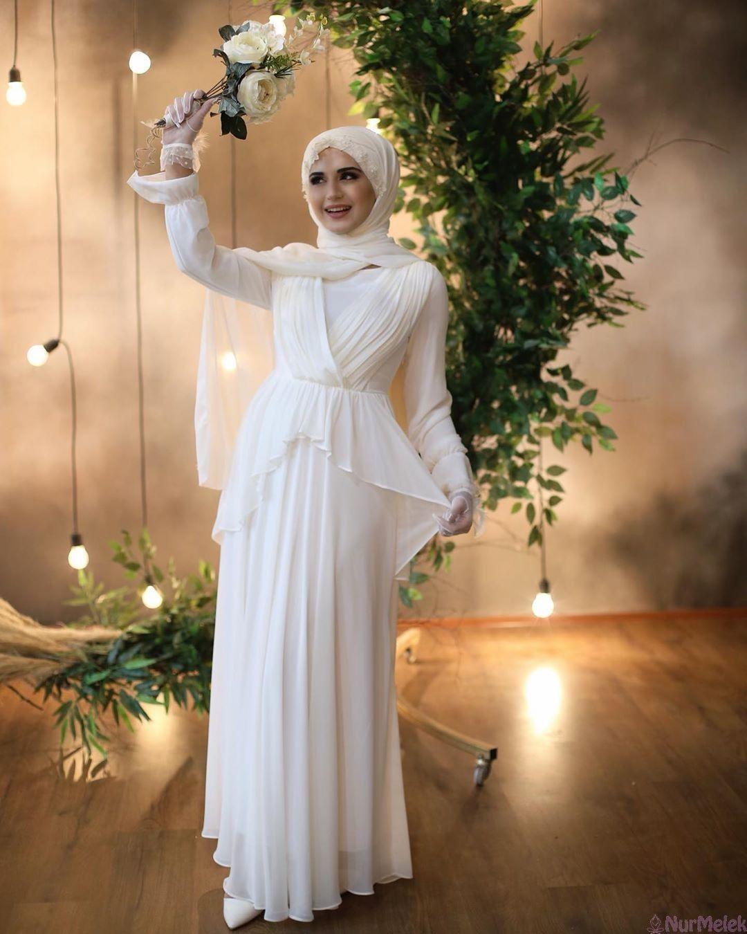 2020 Yaz Tesettur Abiye Modelleri 2020 Sifon Elbise Gelinlik Basortusu Modasi