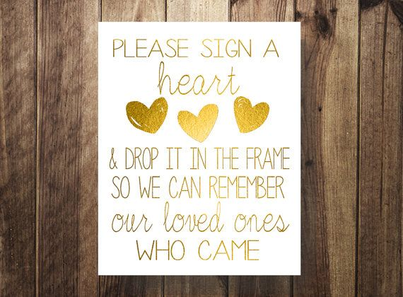 Please Sign A Heart Wedding Guest Book Sign Our